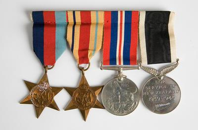 Medals (set of 4) – WWII, W.C. Morris