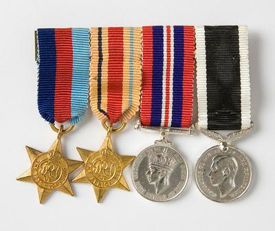 Medals (set of 4 miniature) – WWII, W.C. Morris