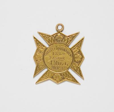 Medal – Charity Tournament 1889 7 aside, J. Mill