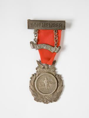 Medal – Life Hon Member United Fire Brigade,