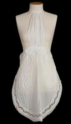 Ladies white apron