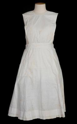 White pinafore apron