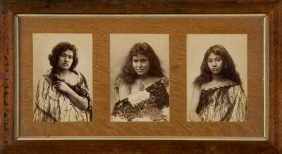 Portraits of Three Maori Girls; Iles Photography (Thames); Unknown; 2005/6/5