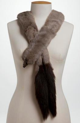 Siberian squirrel fur necklet