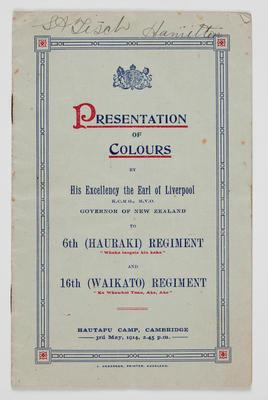 Booklet – Presentation Of Colours