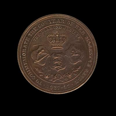 Medal – Commemorating  Diamond Jubilee  of Queen Victoria's Reign
