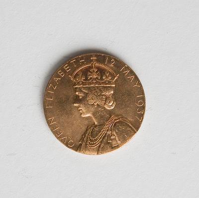 Medal – Commemorating George VI and Queen Elizabeth Coronation 1937