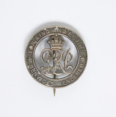 Badge – For King and Empire and Services Rendered