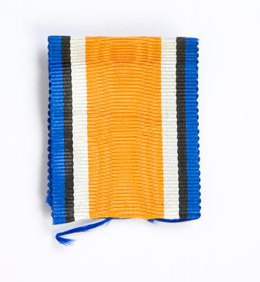 Ribbon piece from the 1914-15 Star Medal J.J. Levien