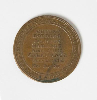 Medal – Commemorating Duke of Wellington Peninsular War Campaign