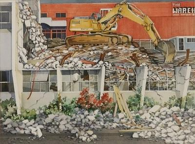 Civic Square Hamilton  (Demolition of William Paul Hall)