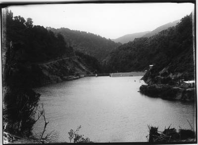 Glass plate negative – Mangahao Dam, Shannon