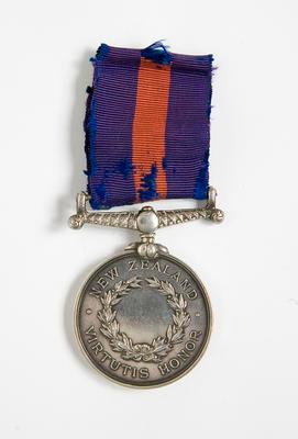 Medal – New Zealand Wars, T. Hunter