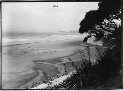 Glass plate negative – Pakiri Beach