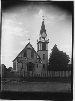Glass plate negative – Catholic Church, Opotiki