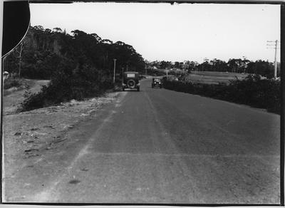 Glass plate negative – Road over Rangiriri Hills