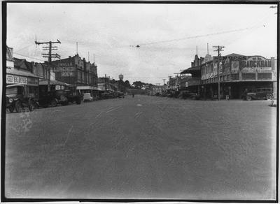 Glass plate negative – Main Street, Foxton