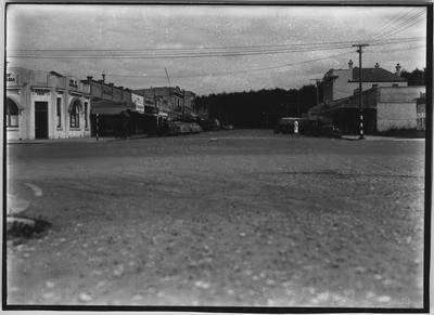 Glass plate negative – Arawa Street, Matamata