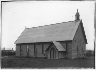 Glass plate negative – Maori Church, Otaki