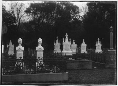 Glass plate negative – Maori Cemetery, Otaki