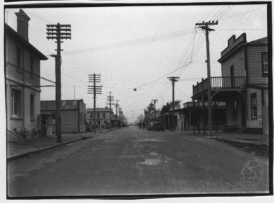 Glass plate negative – Main Street, Otaki