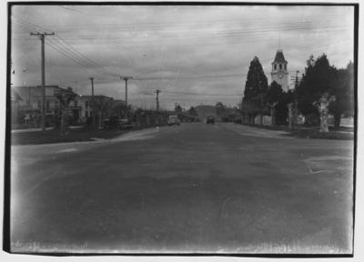 Glass plate negative – Fenton Street, Rotorua