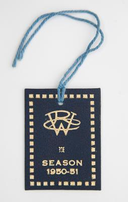 Ticket – Waikato Racing Club Members stand 1950-1951