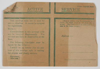 Envelope - Active Service