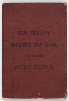 Soldier's Pay-Book for use on Active Service