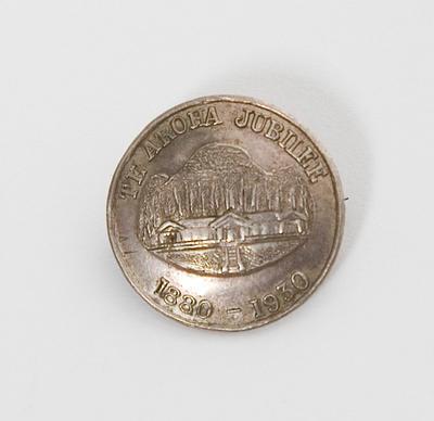 Badge – Te Aroha Jubilee, 1880–1930
