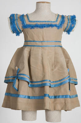 Girl's Brown and Blue Dress