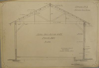 [Thames Valley Co-op. Dairying Co. Ltd] Ngataipua Cheese Factory.Drawing No.3. Details Cross Section on A-B. Making Room.