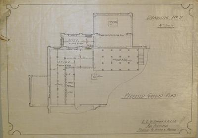 [Thames Valley Co-op. Dairying Co. Ltd. Paeroa Butter Factory Additions] Drawing No.2.