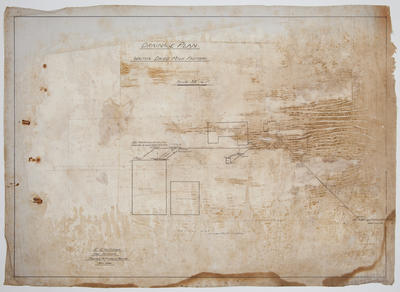 [Thames Valley Co-op Dairying Co. Ltd] Waitoa Dried Milk Factory. Drainage Plan.