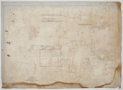 Thames Valley Co-op Dairying Co. Ltd. Waitoa Dried Milk Factory. Drainage Plan.