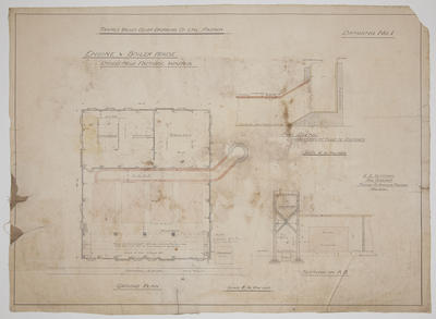 Thames Valley Co-op Dairying Co. Ltd, Paeroa.  Dried Milk Factory, Waitoa. Engine & Boiler House.  Drawing No.1. Ground Plan