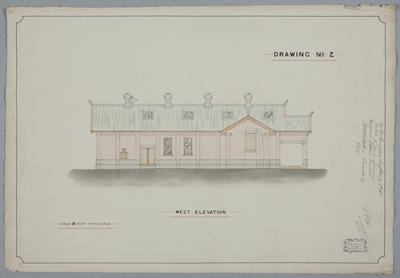 [Rongotea Co-op. Dairy Co. Ltd. Rongotea Butter Factory] Drawing No.2. West Elevation
