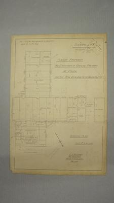 NZ Co-op Dairy Co Ltd Plan of Proposed  Re-Erection of Cheese Factory at Orini. Sheet No.1