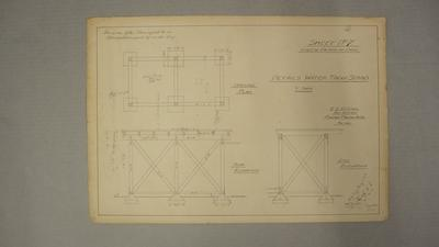 [NZ Co-op Dairy Co Ltd]  Cheese Factory at Orini. Detail Water Tank Stand. Sheet No.7.