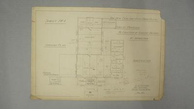 New Zealand Co-op Dairy Co Ltd. Plan of Proposed Re-Erection of Cheese Factory at Wharepoa. Sheet No.1.