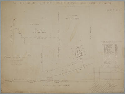 The New Zealand Co-op. Dairy Coy Ltd. Proposed Cheese Factory at Ngatea. Sheet No. 1 Locality & Block Plan Showing Drainage.
