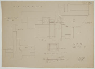 [The New Zealand Co-op. Dairying Coy Ltd. Proposed Cheese Factory at Ngatea] Sheet No. 10. Curing Room Details