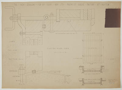 The New Zealand Co-op. Dairying Coy Ltd. Proposed Cheese Factory at Ngatea. Sheet No. 11. Curing Room Door. Details.