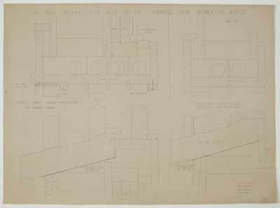 The New Zealand Co-op. Dairying Coy Ltd. Proposed Cheese Factory at Ngatea. Sheet No 12. [Details of double hung sashes]