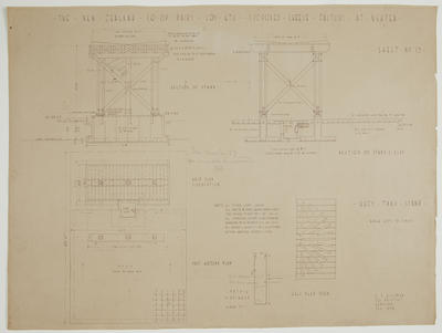 The New Zealand Co-op. Dairying Coy Ltd. Proposed Cheese Factory at Ngatea. Sheet No.13. Whey Tank Stand.