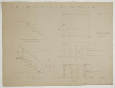 The New Zealand Co-op. Dairying Coy Ltd. Proposed Cheese Factory at Ngatea. Sheet No.15. Wooden Platform at End of Stage.
