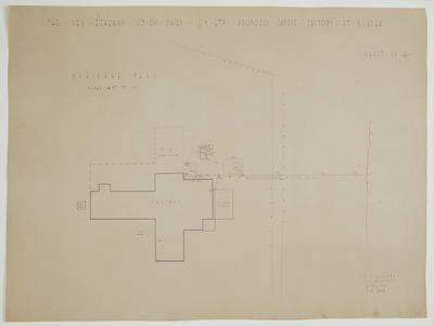 The New Zealand Co-op. Dairying Coy Ltd. Proposed Cheese Factory at Ngatea. Sheet No. 16. Drainage Plan.