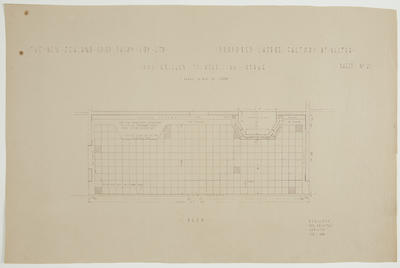 The New Zealand Co-op. Dairy Coy Ltd. Proposed Cheese Factory at Ngatea. Sheet No. 21. Iron Grilles to Receiving Stage.