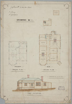 [Residence for Craig and McWatters, 1909.] Drawing No. 1.