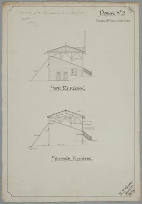 [Ohinemuri Jockey Club. Reinstating of Grandstand, Paeroa, 1911] Drawing No.2.